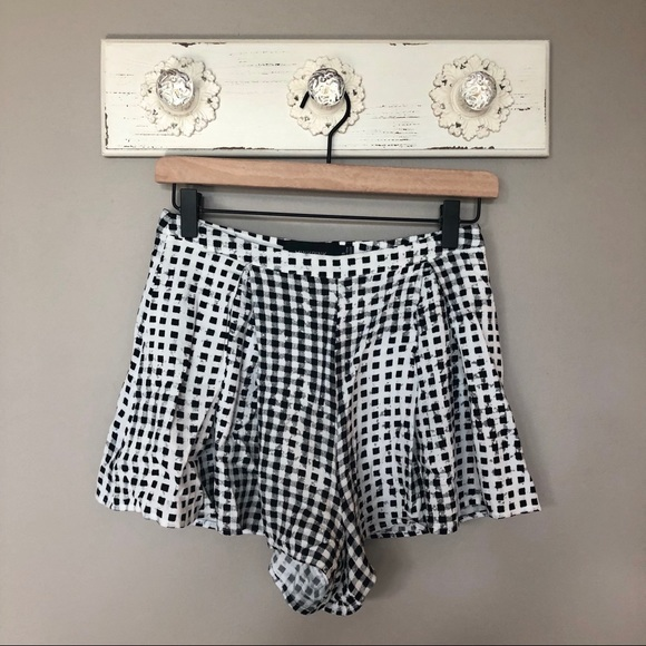 MINKPINK Pants - MINKPINK   Black and White Checkered Shorts